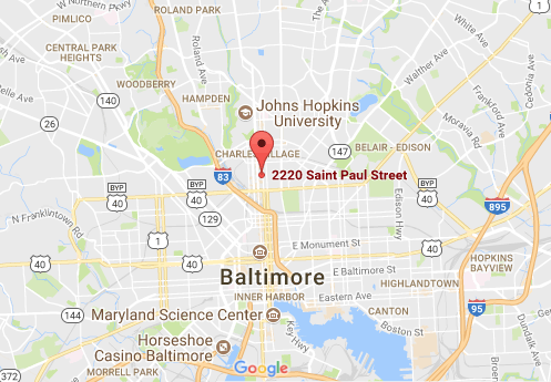 baltimore md 21218 map